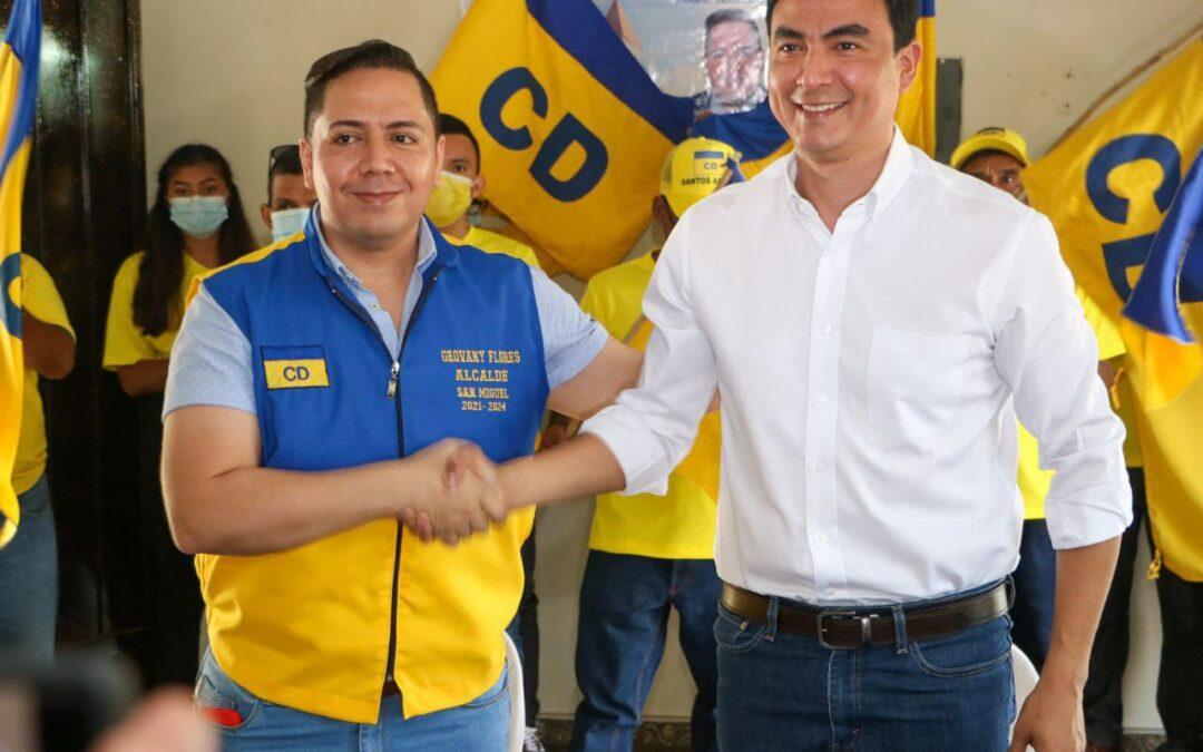 Nuevas Ideas y ahora Cambio Democrático dan apoyo a Miguel Pereira del FMLN
