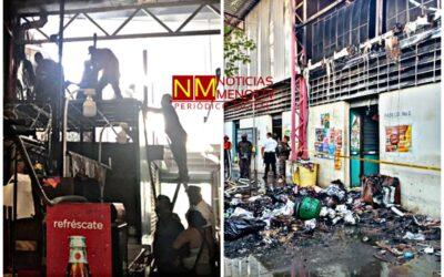Una chispa de soldadura inició fuego en Mega Plaza de Sonsonate.