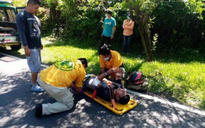 Lesionado en accidente entre Berlín y Mercedes Umaña.
